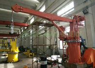3 Tons 4M Compact Design Ship Crane With Stiff Boom / Hydraulic System