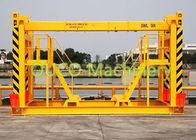 Custom Made Mobile Harbor Gantry Crane With Container Spreader , High Efficiency